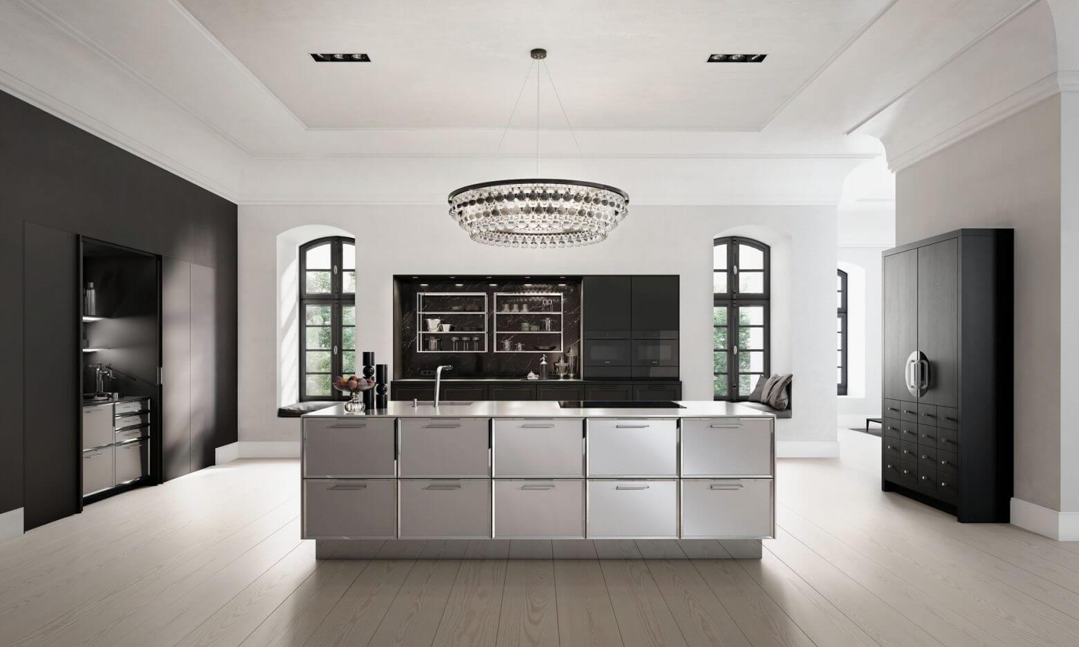 Ultra Moderne Keukens : Vlak fineer met kleine knopen dsm keukens